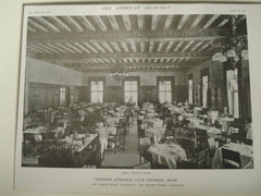 Dining Room, Detroit Athletic Club, Detroit, MI, 1915, Albert Kahn