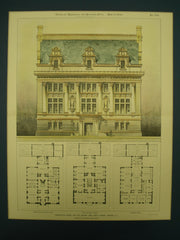 Competitive Design for the Newark Free Public Library , Newark, NJ, 1898, Howard & Cauldwell