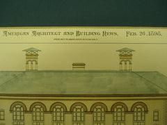 Competitive Design for Erasmus Hall High School , Brooklyn, NY, 1898, Burr & Sise