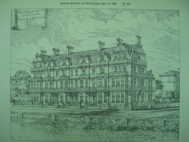 Block of Residences for Leonard Farrell, Esq., Marine Parade, Littlestone-on-Sea, England, UK, 1891, E. Knight