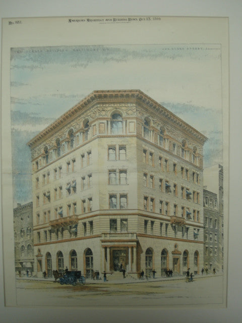 Herald Building , Baltimore, MD, 1894, Jos. Evans Sperry