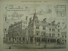 Marquis of Granby Shops and Residential Suites and Stabling , London, England, UK, 1893, Martin & Purchase and Boehmer & Gibbs