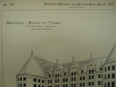 Montreal Board of Trade , Montreal, CAN, 1891, E. A. & W. W. Kent