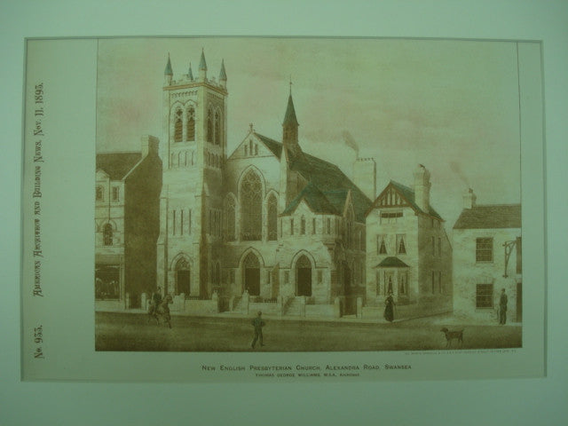 New English Presbyterian Church on Alexandra Road, Swansea, Wales, UK, 1893, Thomas George Williams