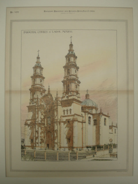 Parochial Church , Lagos, Mexico, 1886, Unknown
