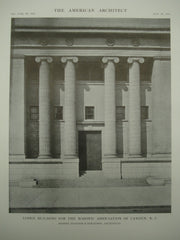 Front of the Lodge Building for the Masonic Association , Camden, NJ, 1915, Messrs. Heacock & Hokanson