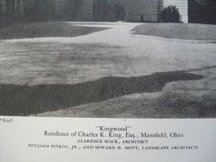 Kingwood: The Residence of Charles K. King, Esq. , Mansfield, OH, 1928, Clarence Mack, Architect & William Pitkin Jr. and Seward H. Mott
