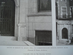 House of Rollin H. Allen, Esq. on 240 Commonwealth Avenue , Boston, MA, 1905, Chapman & Frazer