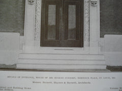 Entrance to the House of Mr. Eugene Cuendet , Hortence Place, St. Louis, MO, 1908, Messrs. Barnett, Haynes & Barnett