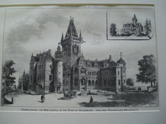 Hummelshain Castle for the Duke of Altenburg, Germany, EUR, 1884, Ihne and Stegmuller