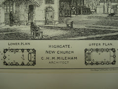New Church , Highgate, London, England, UK, 1882, C. H. M. Mileham