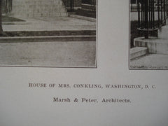House of Mrs. Conkling , Washington, DC, 1906, Marsh & Peter