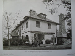 House of Thomas Shields Clarke, Sculptor , Lenox, MA, 1905, Wilson Eyre, Jr.