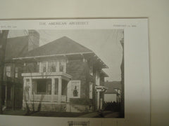 House of Mrs. M. C. Miller, Buffalo, NY, 1909, Green and Wicks