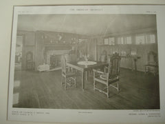 Interior, Charles S. Brown House, Mount Kisco, NY, 1909, Albro and Lindeberg