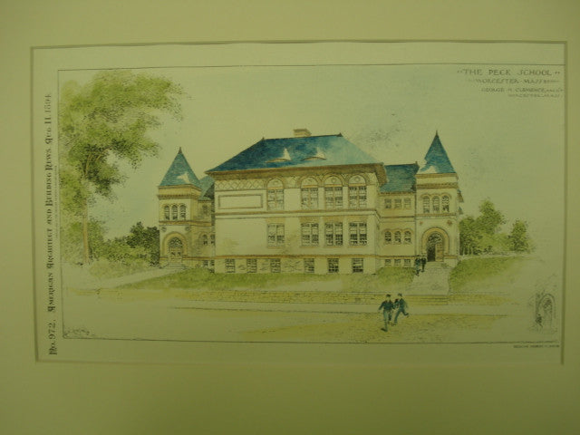 Peck School, Worcester, MA, 1894, George H. Clemence