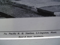 North Pacific R.R. Station, Livingston, MT, 1904, Reed & Stem