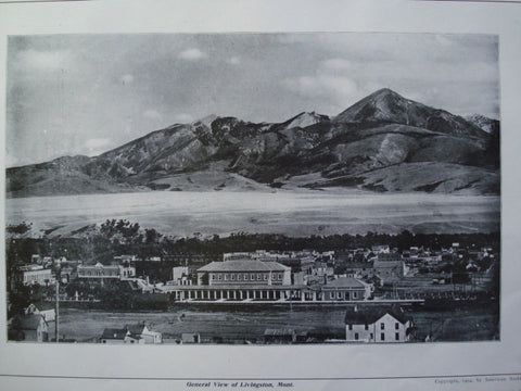 General View of Livingston, Livingston, MT, 1904, NA