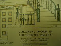 Colonial Work, Genesee Valley, NY, 1894, Claude Fayette Bragdon