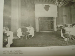 Dining Room, Hotel St. Francis, San Francisco, CA, 1909, Bliss and Faville