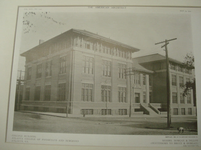 Atlanta College of Physicians and Surgeons, Atlanta, GA, 1909, Morgan and Dillon