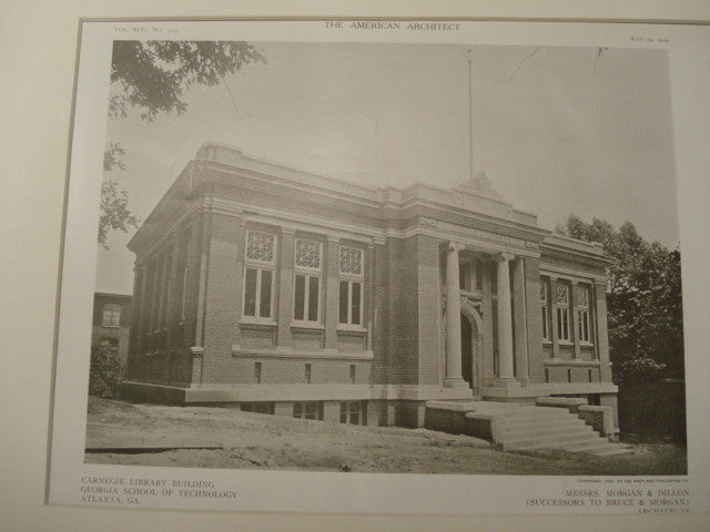 Carnegie Library, Georgia School of Technology, Atlanta, GA, 1909, Morgan and Dillon