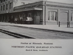 Northern Pacific Railroad Stations , Bismarck, ND & Missoula, MT, 1904, Reed & Stem