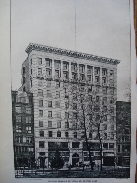 Colonial Building on Boylston St., Boston, MA, 1901, C.H. Blackall