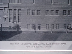New Municipal Gymnasium , East Boston, MA, 1911, Newhall & Blevins