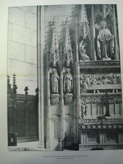 Detail of the New Reredos: Emmanuel Church , Boston, MA, 1904, Francis R. Allen