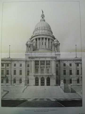 Central Motive: Rhode Island State House , Providence, RI, 1903, McKim, Mead & White