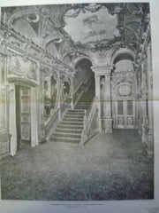 Staircase in the Foyer: Colonial Theatre , Boston, MA, 1901, C.H. Blackall