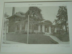 Alternate View of the House of John L. Kaul, Birmingham, AL, 1909, William C. Weston