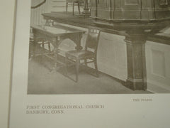 Pulpit, First Congregational Church, Danbury, CT, 1909, Howell and Stokes