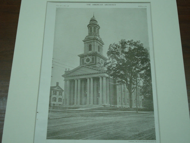 First Congregational Church, Danbury, CT, 1909, Howell and Stokes