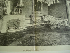 The Queen's Sitting Room, The Hague, Holland, EUR, 1898, Unknown