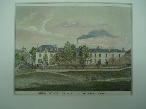 Iowa State Prison, Madison, IA, 1875, Unknown