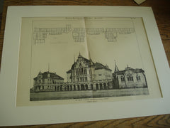 The Goethe Gymnasium, Frankfort-on-the-Main, Germany, EUR, 1898, Frobenius