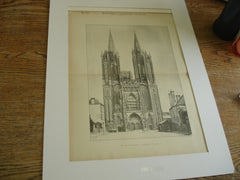 Cathedral, Coutances, France, EUR, 1892, Unknown