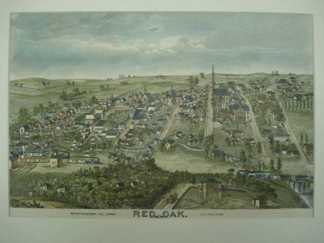 View of the South of Red Oak, Iowa, Red Oak, IA, 1875, Unknown