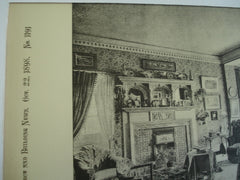 Drawing Room: Thurstonville, Beckenham, England, UK, 1898, Francis Hooper