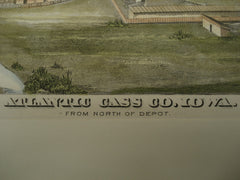 View from the North of the Depot , Atlantic, Cass County, IA, 1875, Unknown