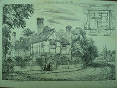 House for S. Osborn, Datchet, England, UK, 1882, Ernest Newton