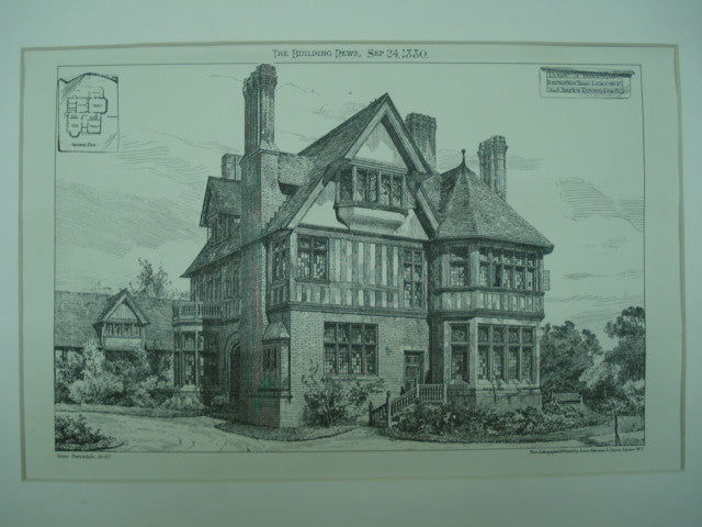 House for Charles Brown , Stoneygate, Leicester, England, UK, 1880, Isaac Barradale