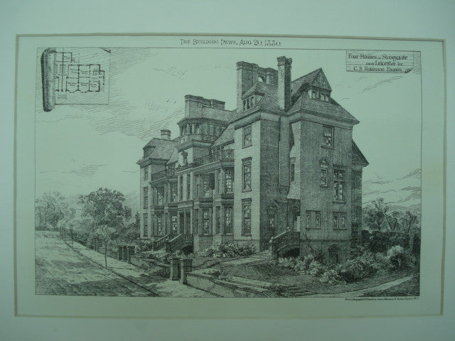 Four Houses for C. S. Robinson, Stoneygate, Leicester, England, UK, 1880, Unknown