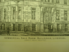 Commercial Sale Room Buildings , Liverpool, England, UK, 1880, James F. Doyle
