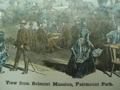 Scene of the view from Belmont Mansion, Fairmount Park, IL, 1883