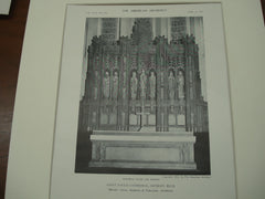 Altar and Reredos at Saint Paul's Cathdral , Detroit, MI, 1911, Messrs. Cram, Goodhue & Ferguson