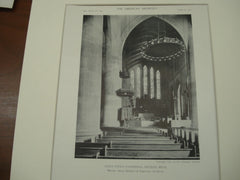 Interior at Saint Paul's Cathdral , Detroit, MI, 1911, Messrs. Cram, Goodhue & Ferguson