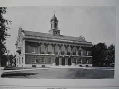 Town Hall , Needham, MA, 1904, Winslow & Bigelow